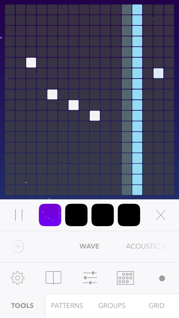 beatwaveのアプリ画面